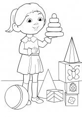 Раскраска Девочка Галя