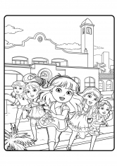 Раскраска Даша и её новые подружки