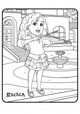 Раскраска Эмма со скрипкой
