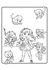 Раскраска Герои любимых мультфильмов