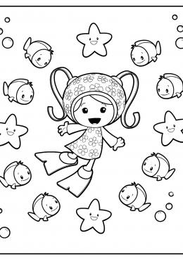 Раскраска Милли под водой, скачать и распечатать раскраску ...