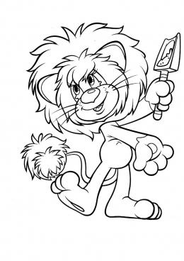 раскраска львенок с лопаткой скачать и распечатать