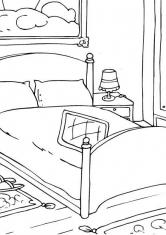 Раскраска Большая спальня