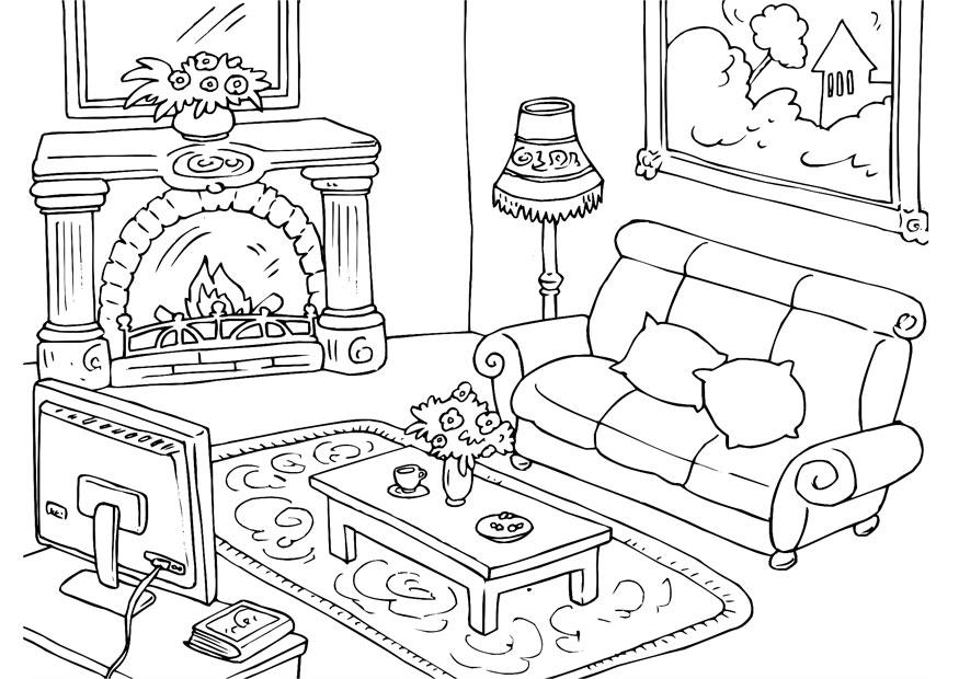 Раскраска мебель - 1
