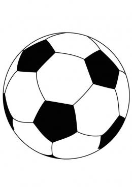 картинка раскраска мяч