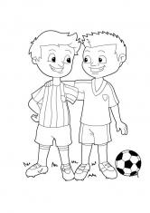 Раскраска Футбольная команда