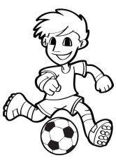 Раскраска Юный футболист