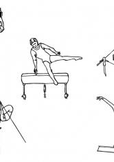 Раскраска Спортивная гимнастика