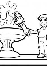 Раскраска Олимпийский огонь