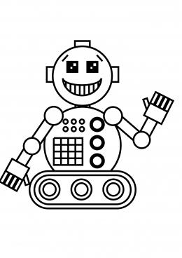 робот раскраска картинка