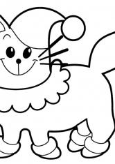 Раскраска Кот в белом воротничке