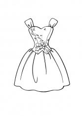 Раскраска Короткое платье с корсетом