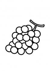 Раскраска Виноград с большими ягодами