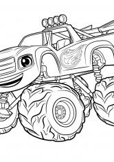 Раскраска Гоночный автомобиль Вспыш