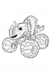 Раскраска Машина динозавр Зэг