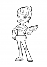 Раскраска Гэбби с планшетом