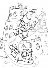 Раскраски Незнайка и его друзья   Раскраска из сказки Незнайка   235x166