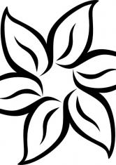 раскраска крупные цветы