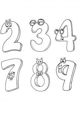 Цифры раскраски от 1 до 10