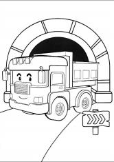 Раскраска <i>экскаваторами</i> <strong>раскраски с экскаваторами</strong> Дампи в тунеле
