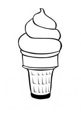 Раскраска Воздушное мроженое в вафельном стаканчике