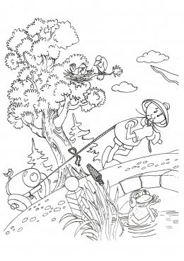 раскраски из советских мультфильмов простоквашино ну