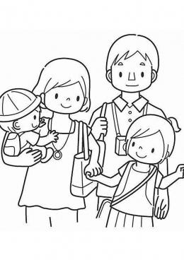 Рисунок моя семья раскраски