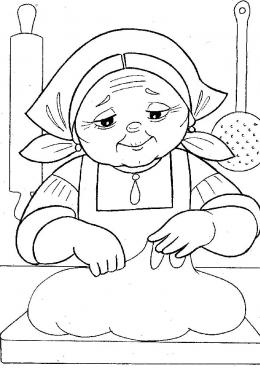 Бабушка в картинках раскрасках
