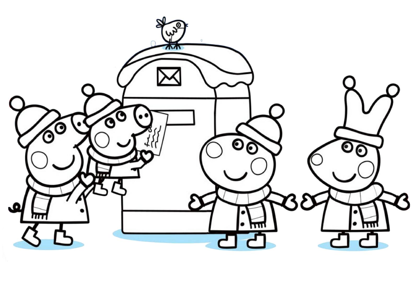 Пеппа и друзьями отправляют письмо Деду Морозу ...