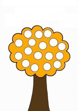 Раскраска Оранжевое дерево, скачать и распечатать ...