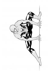 Раскраски совершенный человек паук распечатать