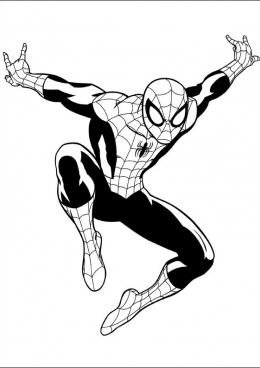 Раскраска Совершенный Человек-Паук, скачать и распечатать ...