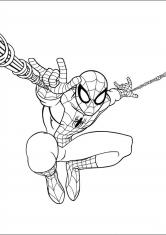 раскраски человек паук персонажи герои принцессы