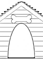 Раскраска Собачья будка