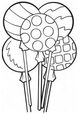 Раскраска Вкусные конфеты на палочках