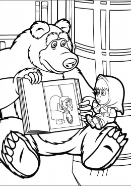 маша и медведь картинки распечатать