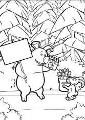 раскраски маша и медведь скачать и распечатать бесплатно