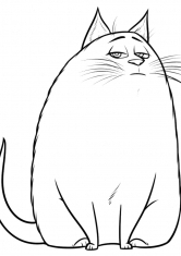 Раскраска Кошка Хлоя
