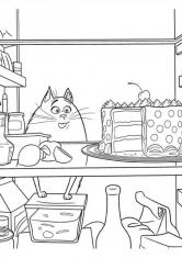Раскраска Хлоя в холодильнике