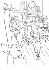 Раскраска Жизнь кошек