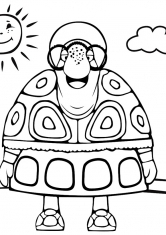 Раскраска Интеллигентная черепаха Тётя Мотя