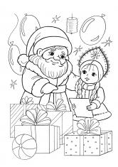 Раскраски Подарки   Новый год, елки, подарки, скачать и ...