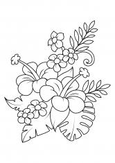 красивые цветы раскраски