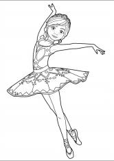 Раскраска Девочка-балерина