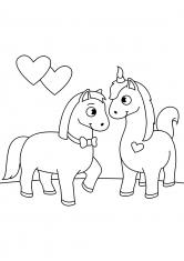 Раскраска Дружба лошадей