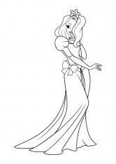 Раскраска Самая элегантная принцесса